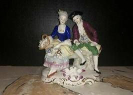 """Gerbruder """"Brothers"""" Voigt Porcelain Figural Of Victorian Gentleman & La... - $316.80"""