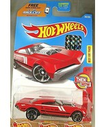 2017 Hot Wheels #362 Then and Now 5/10 MUSCLE SPEEDER Red w/Black MC5 Sp... - $6.50