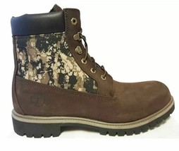 """Timberland Mens 6"""" inch BROWN Camo Panel Double Sole Camouflage BOOTS A115E USA+ - $84.99"""