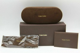 New Tom Ford Eyeglasses Sunglasses Small Brown Hard Case Full Package - $12.79