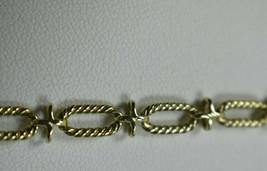 Vintage TIFFANY & Co 14K Gold Twisted Oval Link & X Bracelet & Pouch RAR... - $872.99