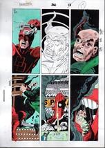 1992 Daredevil 302 page 17 Marvel Comics colorist's color guide art: 199... - $99.50
