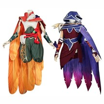 LOL The Rebel Xayah The Charmer Rakan Cosplay Costume Halloween Costume - $309.99