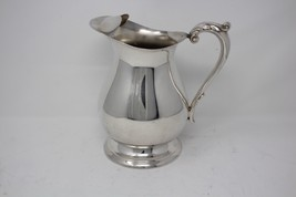 Poole Vintage Silverplated Pedestal Water Pitcher w/ Ice Guard - $49.99