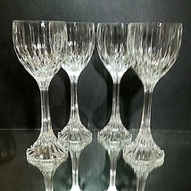 4 (Four) Mikasa Park Lane Cut Lead Crystal Wine Hock Glasses Discontinued - $109.24