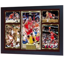 Michael Jordan Chicago Bulls signed NBA printed on CANVAS 100% COTTON Fr... - $20.74