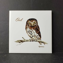 Owl Tile Trivet Cork Back Screencraft Phyllis Howard Artist Made in Port... - $19.99
