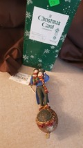 Dept 56 RARE A Christmas Carol Storybook Ornament Bob Cratchit & Tiny Tim NIB - $29.95