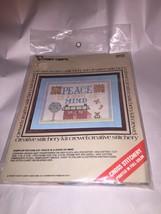 Vintage 1977 Peace is a state of Mind Vogart Cross Stitchery Kit - $15.93
