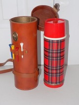 Rare Vintage Golf Thermos Universal Vacuum Products Inc. w/Case - $74.25