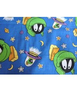 Marvin Martian Fabric Vintage WB Looney Tunes Space Ship 90s Cartoon Cot... - $129.99