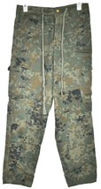 Forever 21 Green Camouflage Zipper & Drawstring Camo Cargo Pants Size S image 1