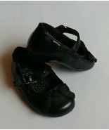 Baby Girl Toddler Teeny Toes Size 2W Black Patent Mary Jane Holiday Dres... - $10.95