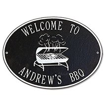 Personalized BBQ Grill Outdoor Metal Plaque (Customizable Product) - €53,84 EUR