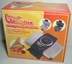 PASTRY MAKER Electric WAFER-IRON SLASTYONA (SWEET-TOOTH) RUSSIA 220V - $78.00