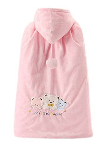 PANDA SUPERSTORE Baby Cloak Fall Winter Funds Thick Warm Cotton Shawl Bear Patte