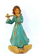 "Vintage 6"" Angel Tree Topper made in British Hong Kong Art Plastics #949... - $14.84"