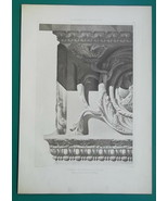 ROME Temple of the Sun Architrave Detail Architecture - 1905 d'Espouy Print - $31.46
