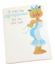 Vintage American Greetings Birthday Card Fashionable Cat For Females Die... - $4.95