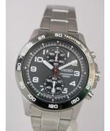 Seiko men watch 7T94 chronograph grey dial SNN193 - $160.38