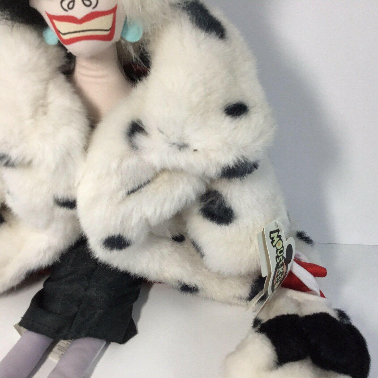 "Disney 101 Dalmatians Villain Plush CRUELLA DE VIL Doll -- 18"" H image 4"