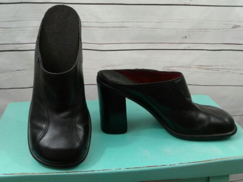 40bf61557bd Vtg Women Tommy Hilfiger Black Leather Clogs and 35 similar items