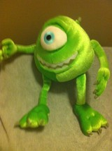 DISNEY PIXAR --MONSTER INC -- STUFFED PLUSH-- ONE EYE MIKE- ---FREE SHIP... - $14.38
