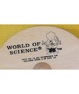 Whirligig spinning Top, World of Science, custom imprint, Toycrafter 1989 - $4.75