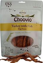 Choovio Turkey with Fish Dog Treats, Made in USA,(6-Ounce Bag) - $14.39