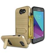 Samsung Galaxy J3 Emerge 2017 / J327P Brushed Shockproof With Kickstand ... - $14.99