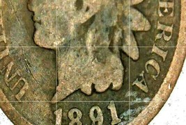 Indian Head Penny 1890, 1891, and 1892 AA20-CNP2125  image 2