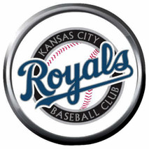 Royals MLB Baseball Kansas City Logo KC MLB 18MM - 20MM Snap Jewelry Charm - $5.95