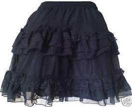 Gothic Mini Prom Night Sexy Skirt Victorian Black 1549 - $27.00