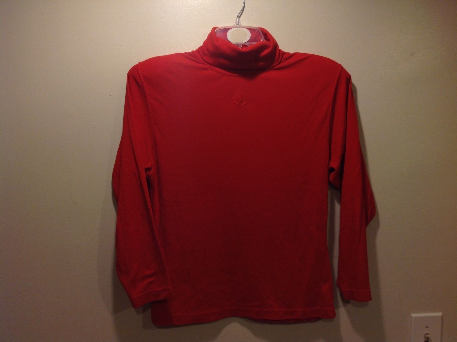 Autograph American Clothing Scarlet Red-Orange Turtleneck Sweater Sz M