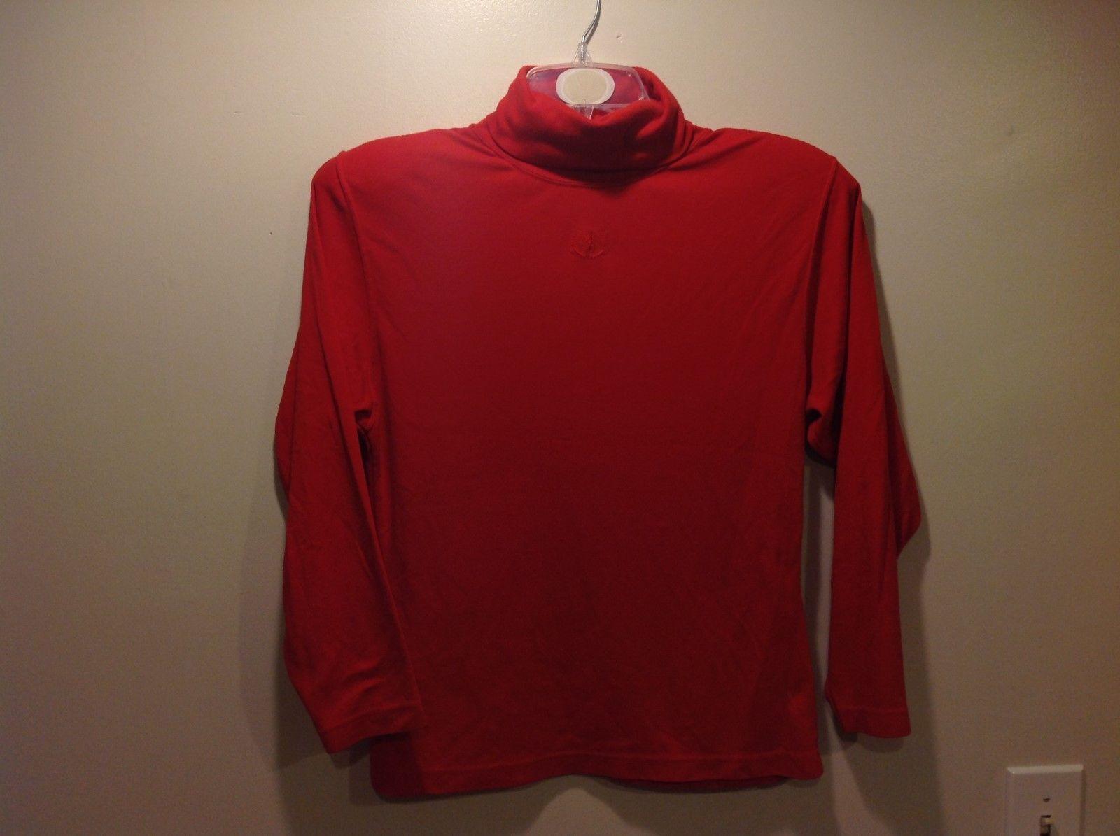 Autograph American Clothing Scarlet Red-Orange Turtleneck Sweater Sz M