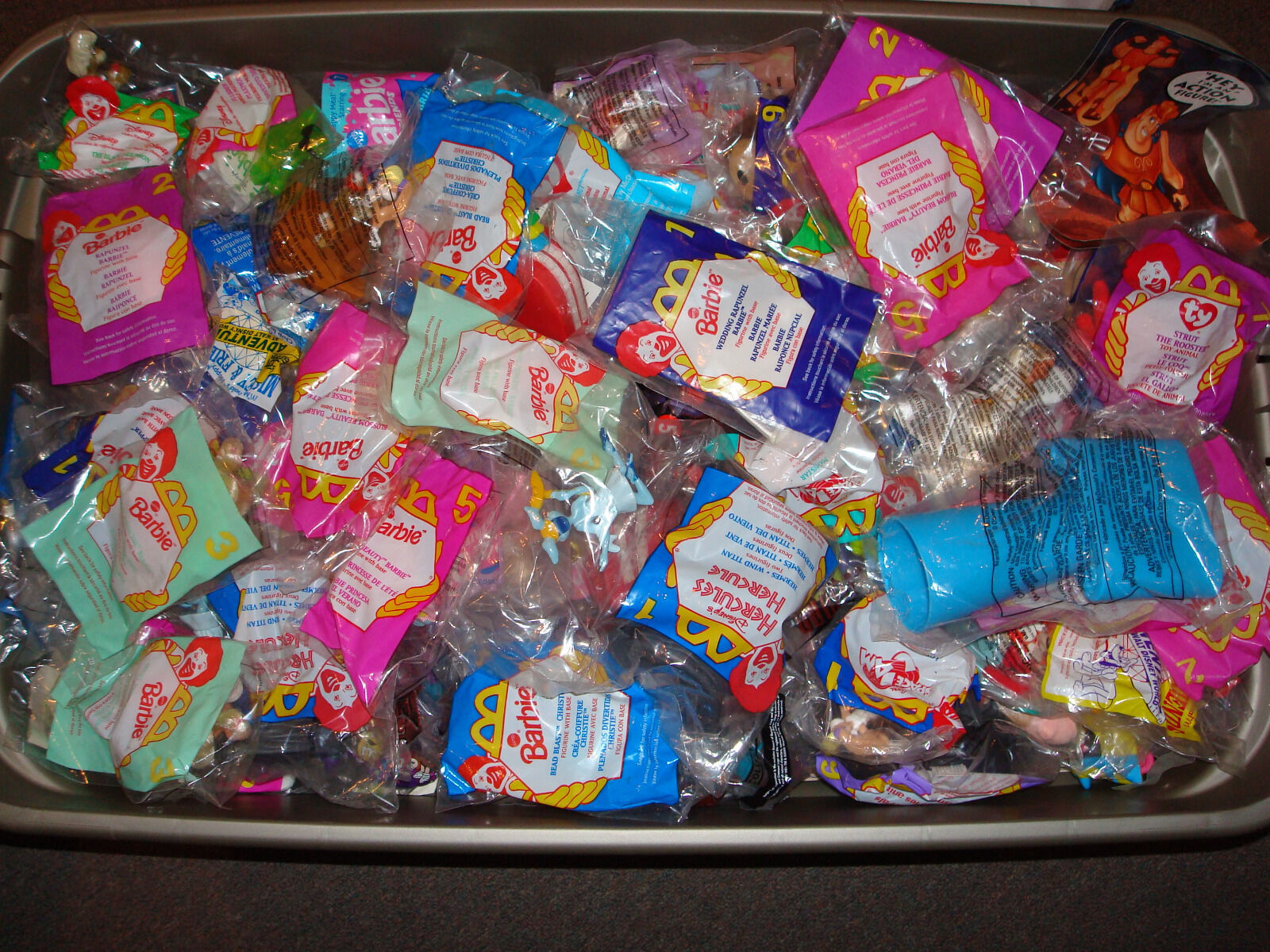 LOT OF 50  McDONALDS Happy Meal Toys Mostly from the 1990s.