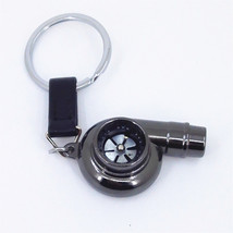 Black TURBO BEARING KEYCHAIN METAL KEY RING/CHA... - $4.79