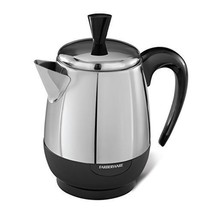 Farberware 2-4 Cup Percolator Stainless Steel Electric Coffee Pot Superf... - $54.12