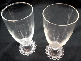 Pair of Anchor Hocking 'Boopie Clear' Liquor / Cocktail Glasses - $7.95
