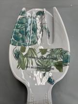 Tommy Bahama Serving Utensils Green Sea Ocean Turtle Salad Fork & Spoon ... - $18.71