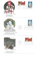 3 Fdc Usa 1985 Christmas Cheer The Madonna And Child Christmas Tradition Joy 478 - $9.90