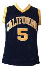 Jason Kidd #5 College Basketball Jersey New Sewn Navy Blue Any Size image 1