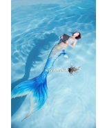 2018 Blue Swimmable Mermaid Tail for Kids Adult with Monofin,Mermaid Cos... - $99.99+