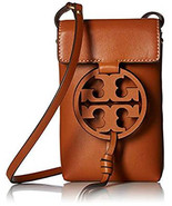 Authentic Tory Burch MILLER PHONE CROSS-BODY Leather Brown - $185.00