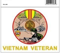 """VIETNAM VETERAN WAR RIBBON MEDAL 5"""" MILITARY  DECAL - $13.53"""