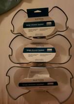 Lot of 3 large shower baskets home suction holds large inverted bottles ... - $29.69