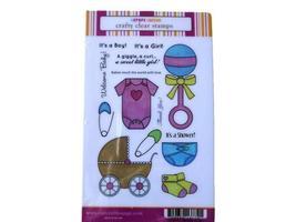 Craft Lounge Bundle of Joy Clear Cling Stamp Set #CCM111