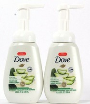 2 Bottles Dove 6.8 Oz Aloe Vera & Eucalyptus 5X Moisture Foaming Hand Wash - $16.99