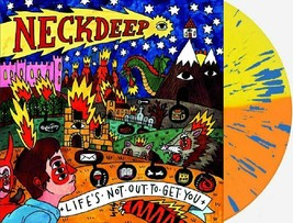 Neck Deep Lifes Not Out To Get You Exclusive Orange Yellow Splatter Viny... - $52.99