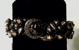 Nwt $148 Marc By Marc Jacobs Gunmetal Gold Chain Jewel Bracelet - $59.19